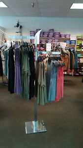 Retail Store Fixtures clothing Shoe Racks Slatwall Display Cases And More