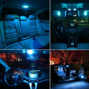 12x Super Ice Blue Interior Package Kit For 2005 2010 Chrysler 300 Led Lights