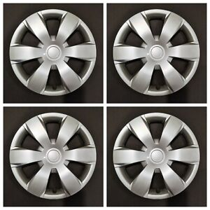 New Wheel Covers Hubcaps Fits 2007 2011 Toyota Camry 16 Silver Set Of 4