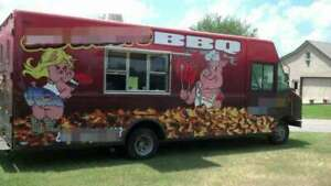 Fully Self contained 2002 18 6 Ford Barbecue Food Truck Mobile Food Unit Fo