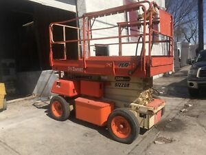 Jlg 3369le 33 Electric Scissor Man Lift Ext Pltfrm Good Running Condition