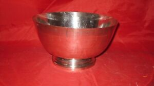 Heavy Solid Sterling Silver P Revere Reproduction Pedestal Bowl Whiting 28oz