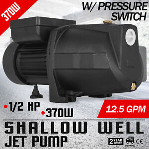 1 2 Hp Shallow Well Jet Pump W Pressure Switch 110v 0 37kw Supply Water Cabins