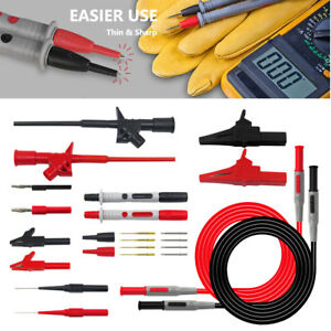 P1600c Whole Set Multimeter Test Lead Probe Cables Banana Tester Alligator Clips