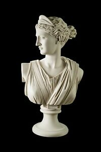 Diana The Huntress Marble Bust Large Greek Goddess Classical Sculpture