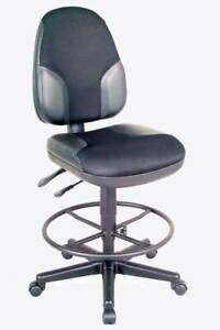 Monarch High Back Drafting Chair In Leather Mesh id 20979
