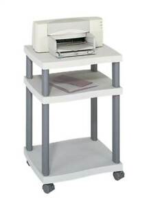 Deskside Wave Printer Stand In Light Gray id 37188