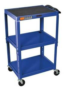 Adjustable Steel Av Cart In Blue id 120669