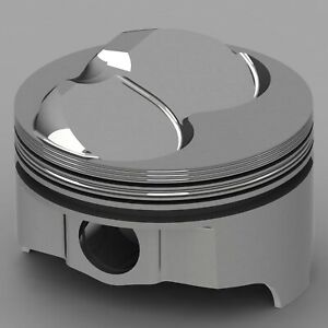 Icon Forged Piston Set Fits Chevy 327 Rod 6 000 Hollow Dome 12 7cc 2v