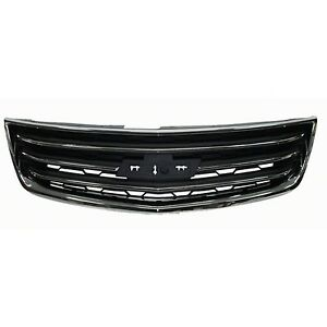 2013 2016 Chevy Traverse Lt Ltz Upper Grille On Front Bumper Cover New