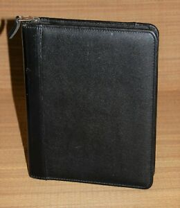 Classic Franklin Covey Planner Black Top Grain Leather Zip 1 5 Rings