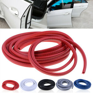 4 5m Red Rubber Car Door Trim Edge Lock Guard Moulding Seal Strip Protector