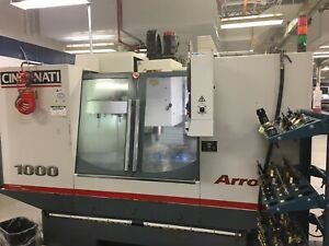 Cincinnati Milacron Arrow 1000 Erm Cnc Vertical Machining Center Fanuc 18i