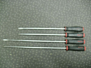 Snap on Long Extra Long Screwdriver Set 4pc Phillips Straight Blade Free Ship