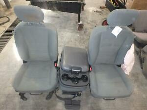 11 16 Dodge 1500 2500 3500 Front Seat Center Console Grey Cloth Manual Oem