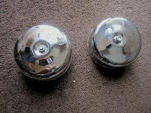 Mg Midget Austin Healey Sprite Spitfire Stelling Hellings Chrome Air Cleaners