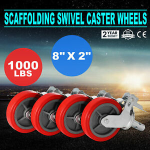 4pcs Scaffold Scaffolding Casters 8 X 2 Mechanical Double Locking Outdoor