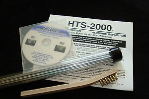 10 18 Aluminum Brazing Rods Hts 2000 Low Temp Complete Kit Repairs Easily