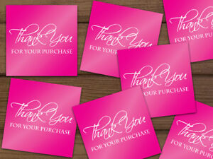 Thank You For Your Purchase Shipping Labels Stickers Hot Pink 25 1000 2x2