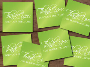 Thank You For Your Purchase Shipping Labels Stickers Lime Green 25 1000 2x2