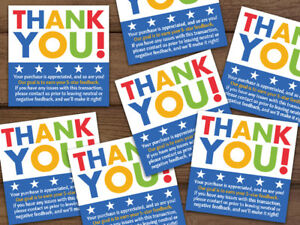Thank You Stickers Ebay Shipping Labels Blue White Or Rubber Stamp Customizable