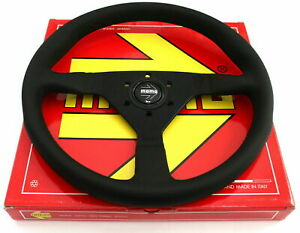 Momo Tuning Tuner Steering Wheel Monte Carlo Black Leather 350mm Race Racing