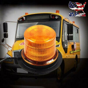 Emergency Snow Amber 48 Led Strobe Light Warning Lights Flashing With Magnetic
