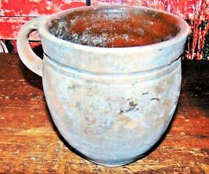 Antique Primitive Rustic Redware Red Ware Ovoid Crock Dug At My Farm House In Pa