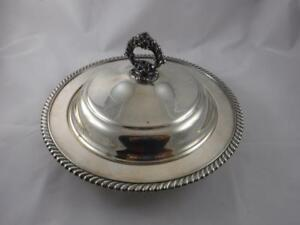 Vintage Rogers Co Silver Plate Mid Century Covered Dish Serving Bowl Tureen