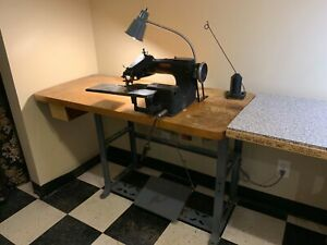 Blind Stitch Hemmer Sewing Machine With Motor Table lewis Union Special 150 2