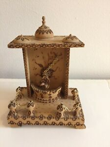 Vintage Wood Pagoda Asian Style Wooden Carved Thai