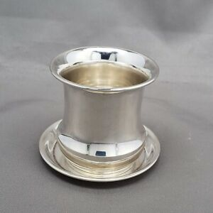 Sterling Silver Toothpick Holder With Underplate Saucer Tray 55 Gr 1 94 Oz