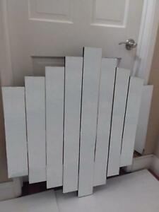 Stunning American Art Deco 1970 S Beveled Mirror Vertical Panels Free Pickup