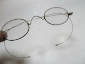 Antique Victorian Oval Steel Wire Eyeglasses Costume Halloween Optical 1870
