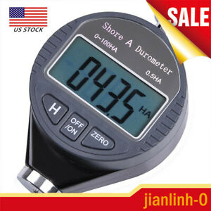 Shore A 100ha Durometer Digital Hardness Tester Meter Lcd Display Rubber Leather
