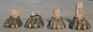 4 Asis Carved Gilt Wood Gesso Tiny Lions Paw Feet Italian Antique Casket Empire