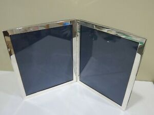 Vintage Large Sterling Silver Double Picture Photo Hinged Frames Italy