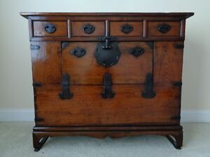 Very Large Korean Traditional Storage Chest 35 5 High X 42 5 Wide X 16 5
