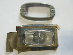 1941 Chevy Plastic Parking Light Lamp Lens And Bezel Nos 41
