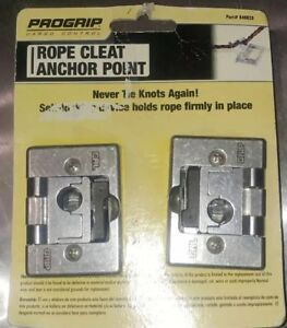 2 Progrip Folding Tie Down Rope Cleat Cargo Boat Truck Trailer Anchor Point Set