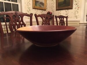 Vintage Wood Bowl 12 1 2 Inches In Diameter Off Round