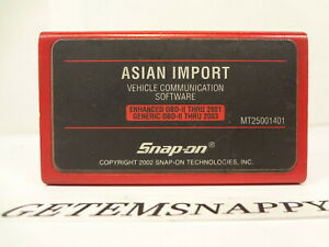 Snap On 2001 2003 Asian Imports Vcs Cartridge Mt2500 Mtg2500 Scanners Nice