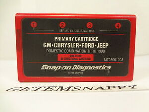 Snap On 1998 Domestic Primary Cartridge Mt2500 Mtg2500 Scanners