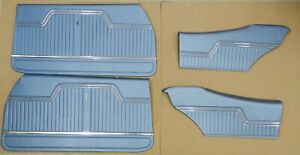 1970 Chevelle Coupe Front Rear Interior Door Panel Set Medium Blue In Stock