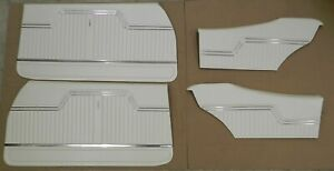 1970 Chevelle Coupe Front Rear Interior Door Panel Set Pearl In Stock
