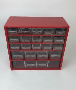 Vintage Metal Raaco Variable Size 20 Drawer Nut bolt Storage Cabinet Organizer