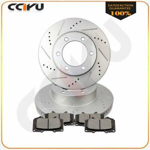 Front Brake Discs Rotors Ceramic Pads For Toyota Tundra 2000 2001 2002 2006