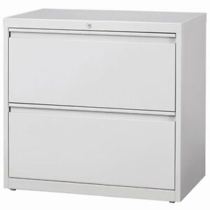 Hirsh Hl8000 Series 36 2 Drawer Lateral File Cabinet In Light Gray
