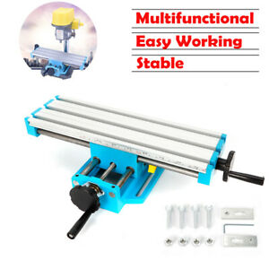 Mini Milling Machine Working Table Multifunction Drill Vise Cross Slide Bench Us