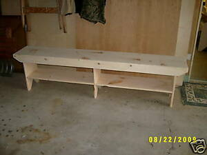 6 Long Wooden Bench Country Style Very Nice